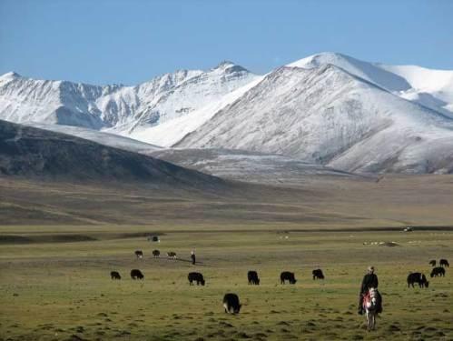 Vue des plaines du Tibet
